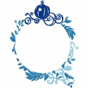 Cinderella Carriage Monogram Frame
