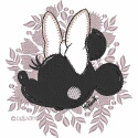 Minnie Mouse Silhouette with Applique