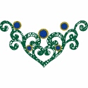 Heart Scroll Embellishment