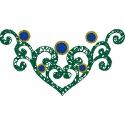 Heart Scroll Embellishment