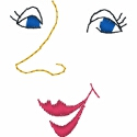 Smiling Feminine Face