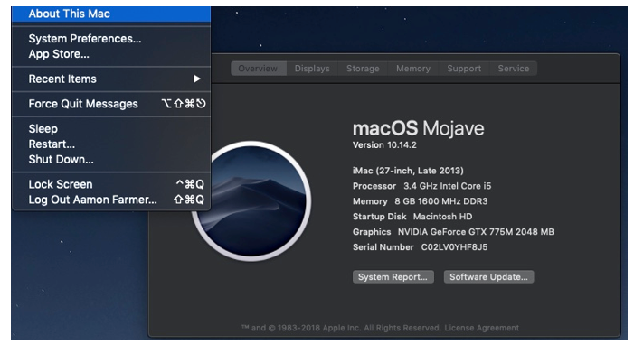 Installing the GTX Driver: Mac OS installation for the driver