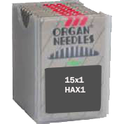 Organ FLAT SHANK Needles,  Regular Point, Size 12/80, 100 per box