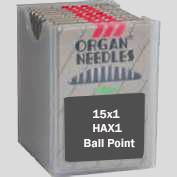 Organ FLAT SHANK Needles,  Ball Point, Size 10/70, 100 per box