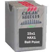 Organ FLAT SHANK Needles,  Ball Point, Size 12/80, 100 per box