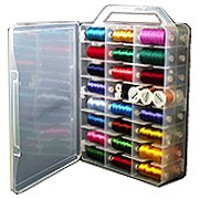 MADEIRA THREAD CARRYING CASE, PLASTIC - HOLDS 48 MADEIRA SPOOLS