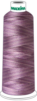 Madeira Rayon Cone #40 SHADED-5500 yrd-LIGHT PURPLE check Color Card for Color Description