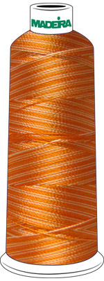 Madeira Rayon Cone #40 SHADED-5500 yrd-ORANGE check Color Card for Color Description OCT