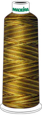 Madeira Rayon Cone #40 SHADED- 5500 yds-GOLDEN BROWNS check Color Card for Color Description