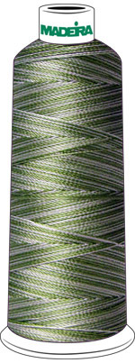 Madeira Rayon Cone #40 SHADED- 5500 yds-LIGHT GREEN check Color Card for Color Description