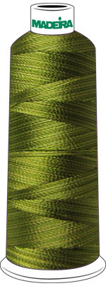 MMadeira Rayon Cone #40 SHADED- 5500 yrds OLIVE check Color Card for Color Description