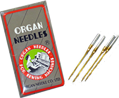 Organ Needles, Titanium GOLD, Sharp Point, Size 65/9 - 100 per box