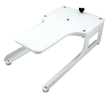 Hoopmaster portable mounting base - white board with top and bottom - no fixture