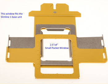 """2.5""""X4"""" Window Frame for Slimline 1 base unit by EMS HoopTech"""