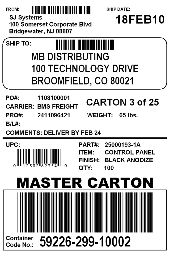 BrotherUSA Your source for home and office product information – Shipping Label Format