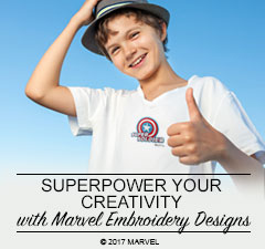 Superpower Your Creativity with Marvel Embroidery Designs now Available on iBroidery.com