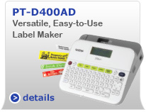 PTD400AD Versatile, Easy-to-Use Label Maker with AC Adapter