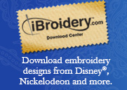 Download embroidery designs from Disney®, Nickelodeon and more.