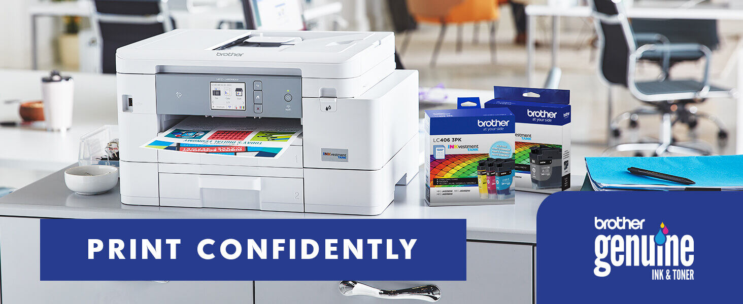 Print Confidently with Brother Genuine Ink & Toner