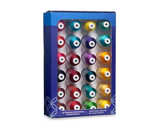 Jewel Tone Thread Set carton