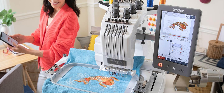 PR1055X embroidering a fish design