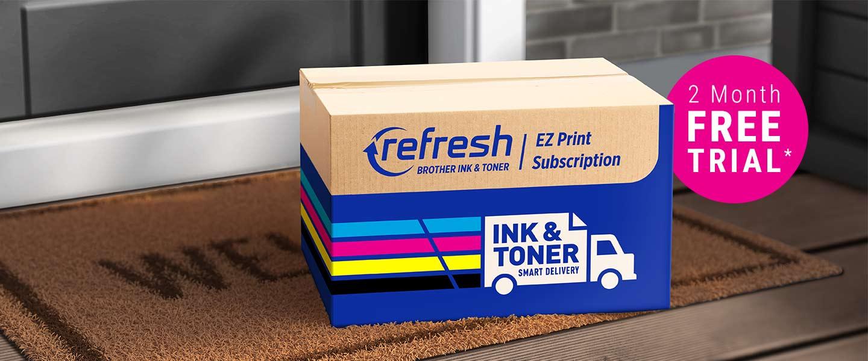 Refresh EZ Print Subscription carton on doorstep