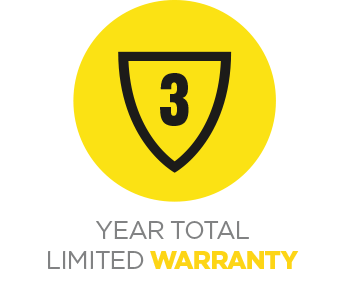 3 Year total limited warranty