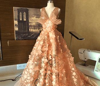 Custom sewn dress gown