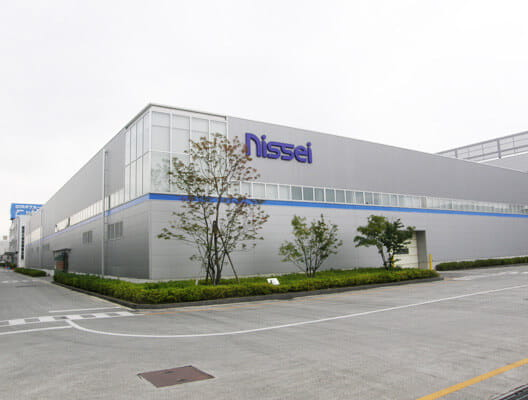 Exterior of Nissei building in Japan