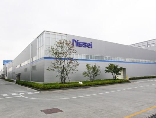 Exterior of Nissei building in Japan