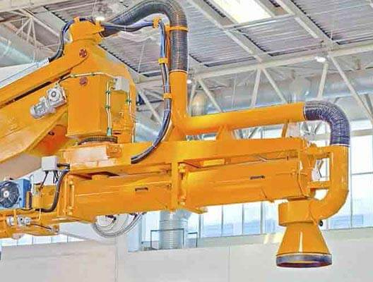 Large yellow industrial machine