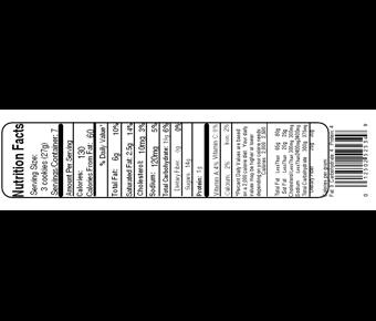 Nutrition information label