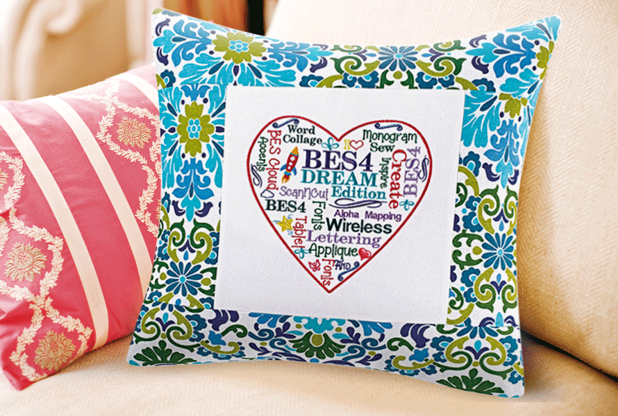 Pillow with BES 4 design
