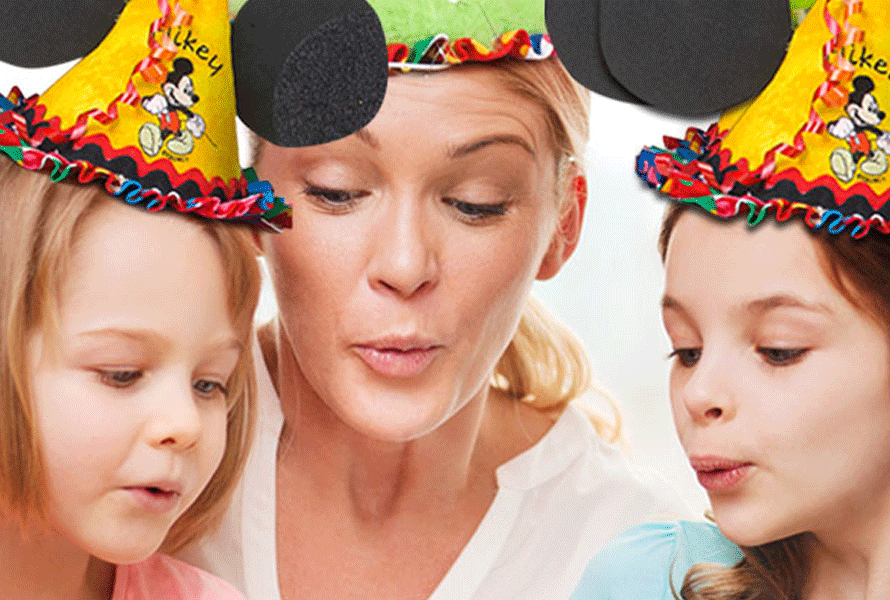 Disney Mickey Mouse embroidery on birthday hats