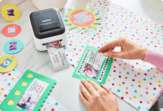 Colorful photo tags