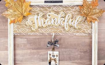Thanksgiving thankful photo wall