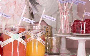 Wedding mason jar favors