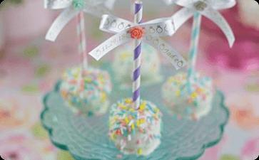 Wedding cake ball ribbons
