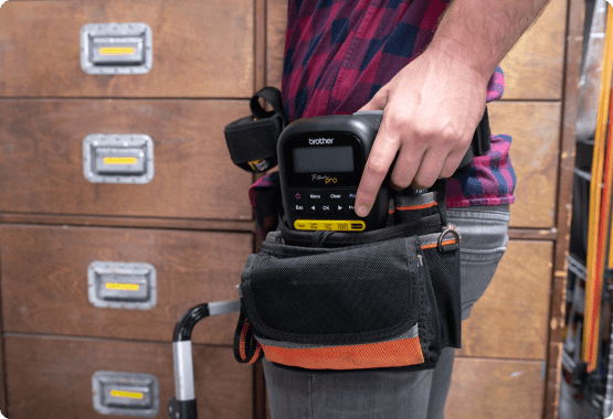 P-touch Pro in a work belt