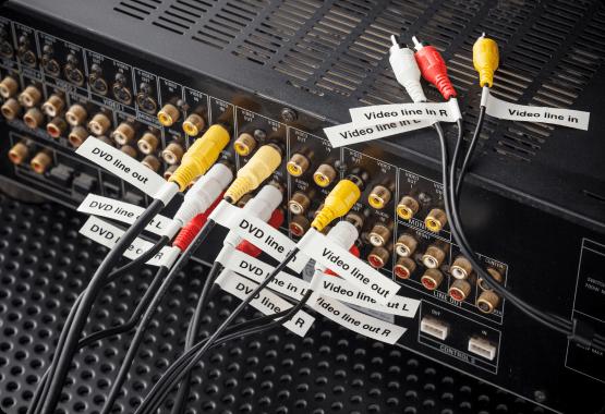 Organized AV cables
