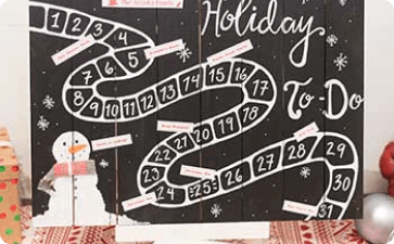 Holiday countdown to-do list