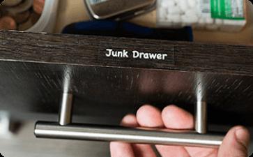 Junk drawer label