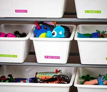 clutter free kids room