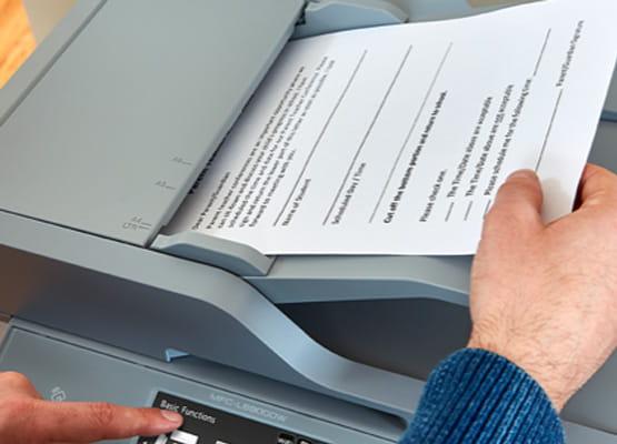 Paper loading into printer