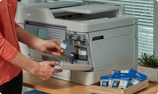 Ink cartridge loaded into a printer