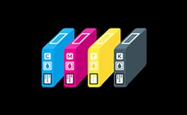 CMYK ink cartridges